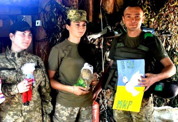 Обереги бійцям від дітей Луганщини