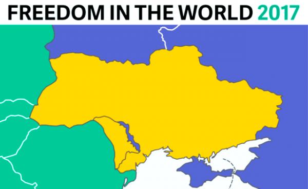 Freedom House про колір Криму на мапі