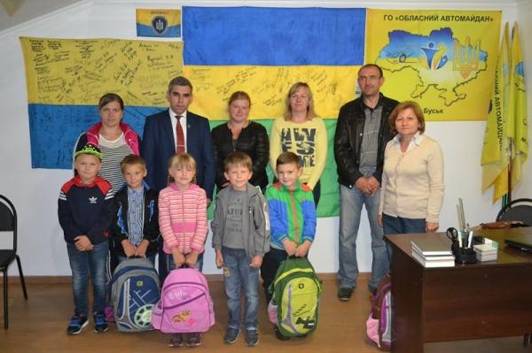 Депутат Львівської облради допомагає зібратися до школи дітям учасників АТО