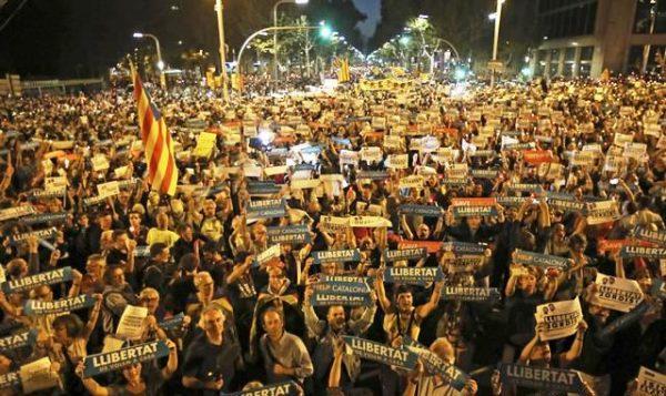 Масова демонстрація у столиці Каталонії