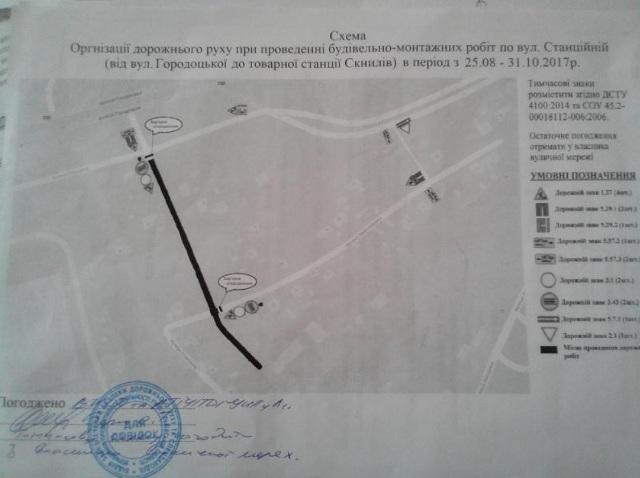 Вулицю Станційну закриють для авто майже до грудня