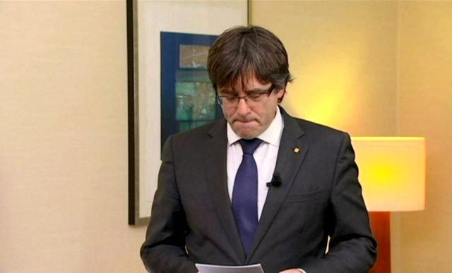 Каталонський лідер добровільно здався поліції
