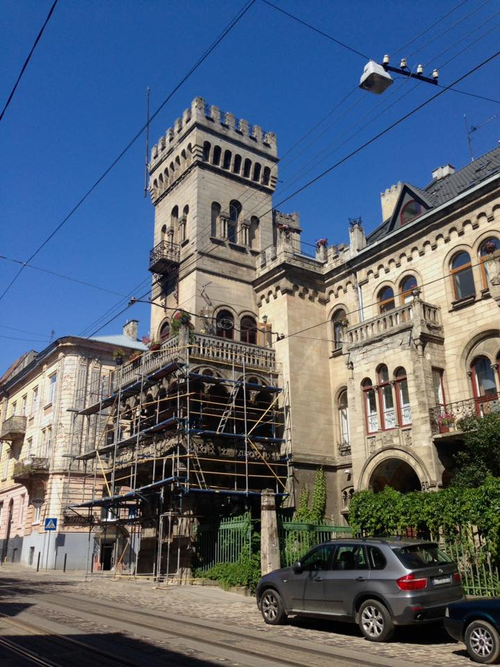 На реставрацію вілли Сосновського у Львові витратили 137 тисяч