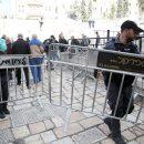 Металеві бар'єри у центрі Єрусалима