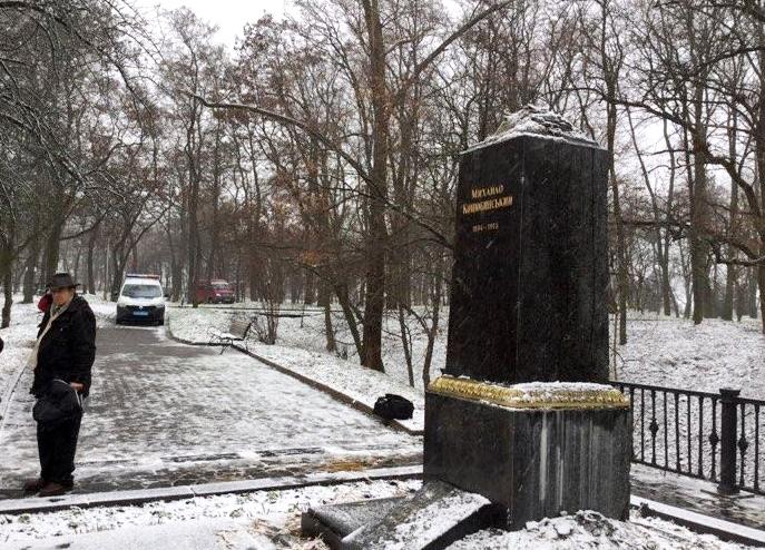 Акт вандалізму на могилі українського письменника