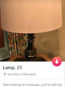 Акаунт лампи в Tinder — популярний серед чоловіків
